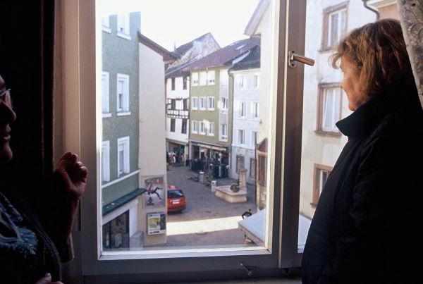 Bei Uschi Gabele am Fenster