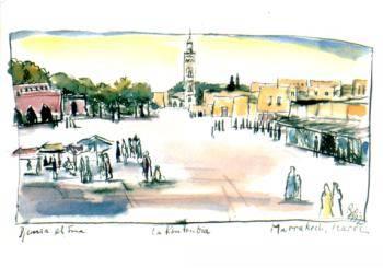Postkarte Marrakech